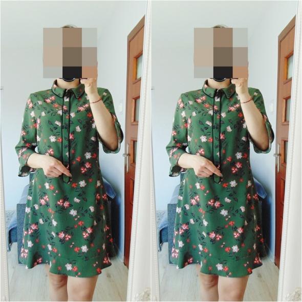 e6be5459fd Atmosphere zielona sukienka w kwiaty w Suknie i sukienki - Szafa.pl