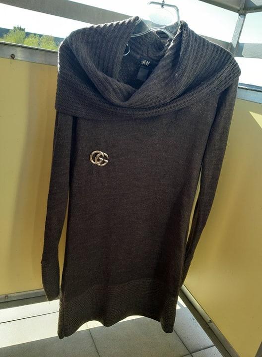 sweter H&M długi z golfem...