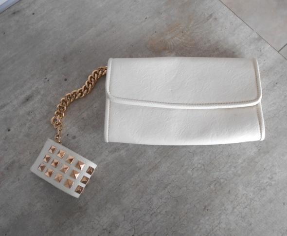 Aldo biała kopertówka z bransoletą łańcuch chain...