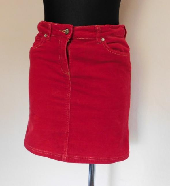 Alive czerwona spódnica sztruks 36 38