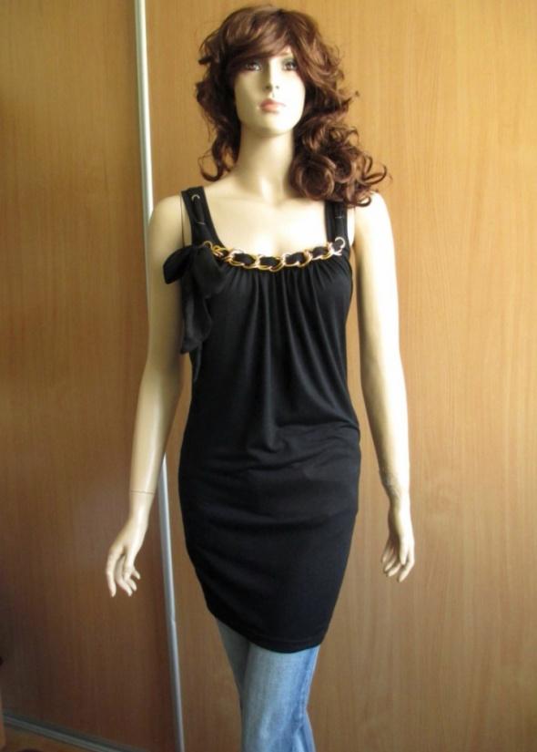 GINATRICOT długa czarna tunika sukienka łańcuch 36...