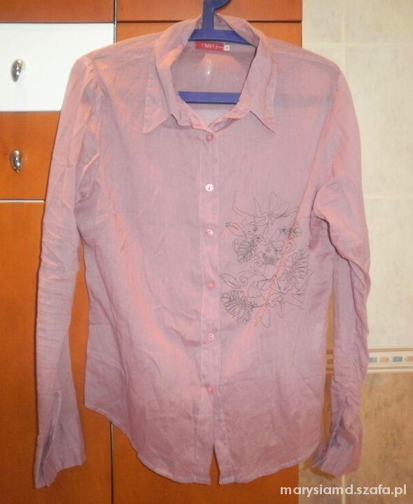 Carry zwiewna pudrowa koszula mgiełka delikatna...