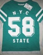 H&M zielona bluzka chłopięca z długim rękawem roz 122...