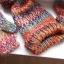 Promod komplet czapka rękawiczki tęczowy cekiny