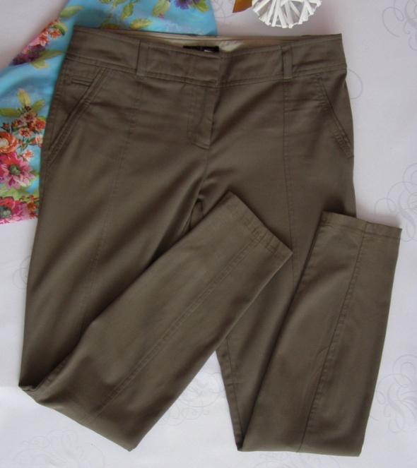 Spodnie rurki tregginsy skiny River Island 34 36 khaki