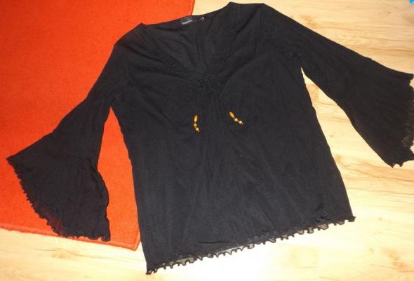 Bluzki Czarna bluzka z koralikami XL