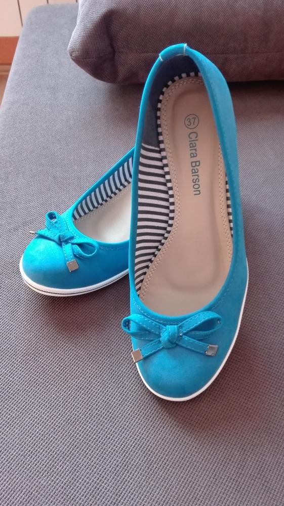 Piękne turkusowe buty OKAZJA