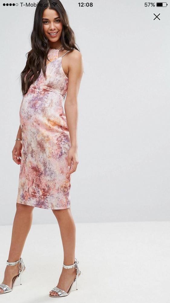 Ciążowa sukienka ASOS kolorowa M