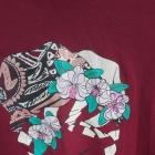 Bordowa krótka bluzka falbany Terranova M