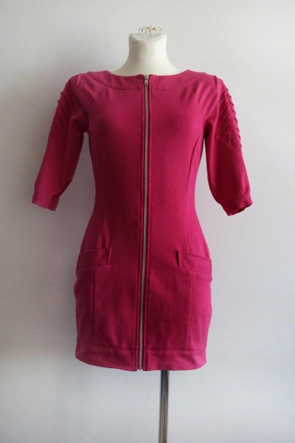 Zjawiskowa sukienka BAY tunika fuksja magenta S