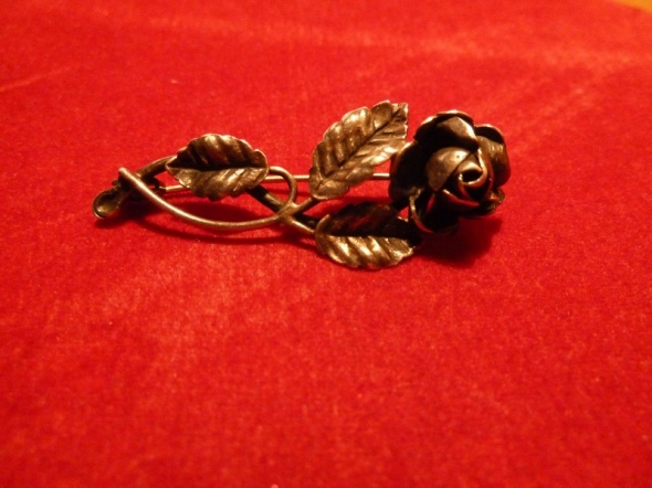 srebrna róża pr 900