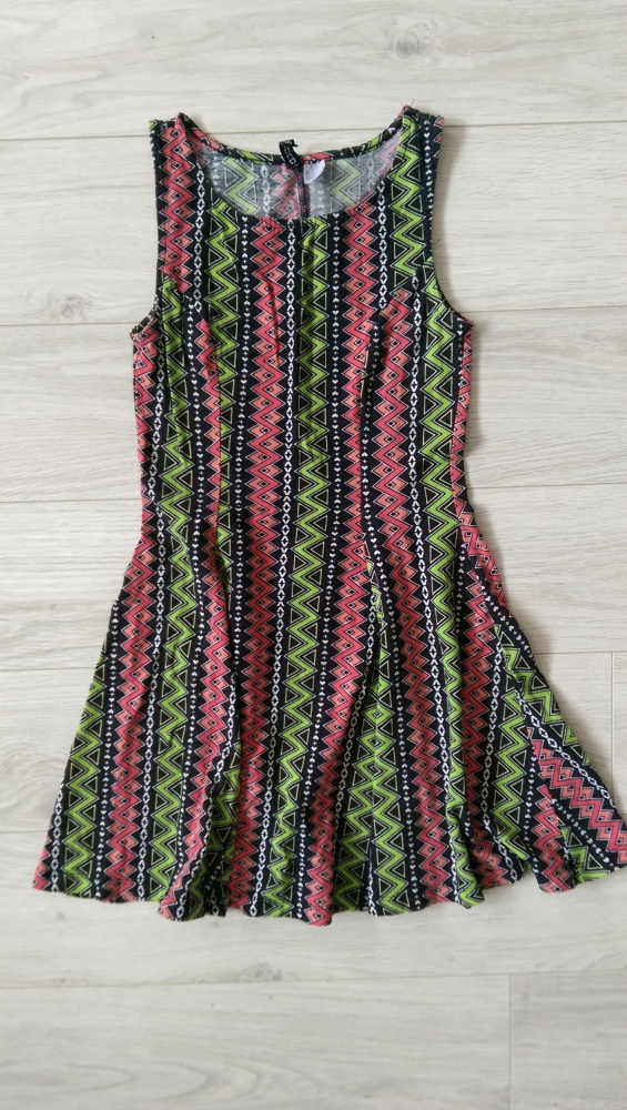 Sukienka H&M elastyczna wzory S grunge punk aztec goth...