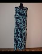 165 ANN HARVEYsuper sukienka w kwiaty 54 56 duża...