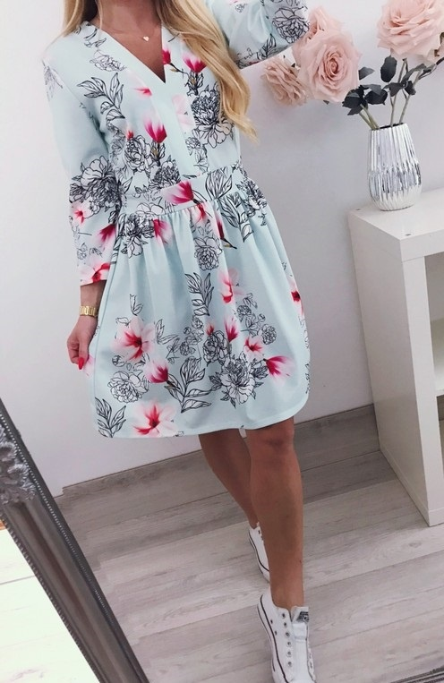 ef3ee9339e sukienka kwiaty cudo w Suknie i sukienki - Szafa.pl