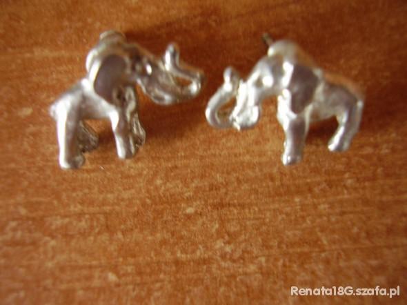srebrne słoniki na szczęście