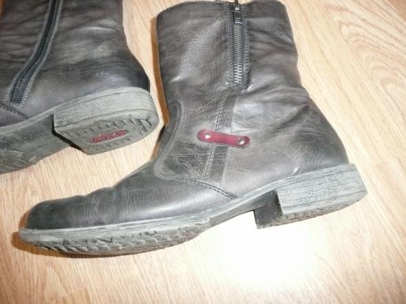 buty szare botki kozaki ocieplane stan idealny 40