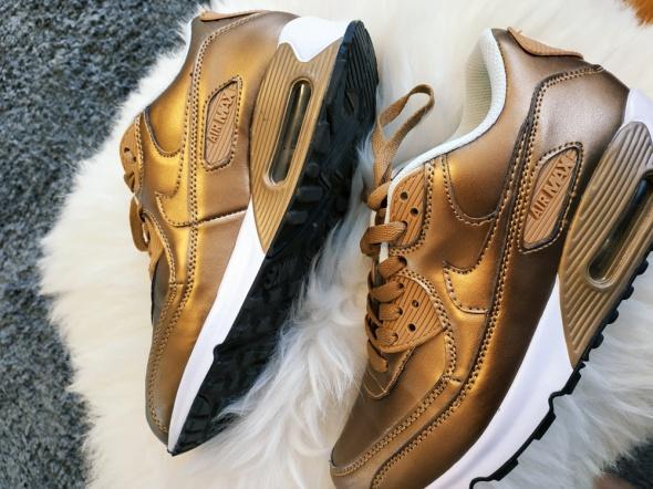 Złote Nike AirMax...