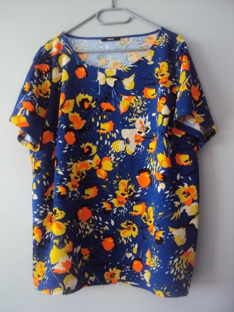 chabrowa bluzeczka w kwiaty