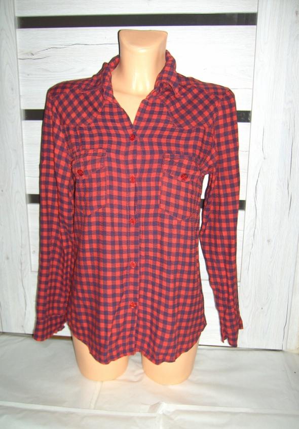 czerwono czarna koszula krata L