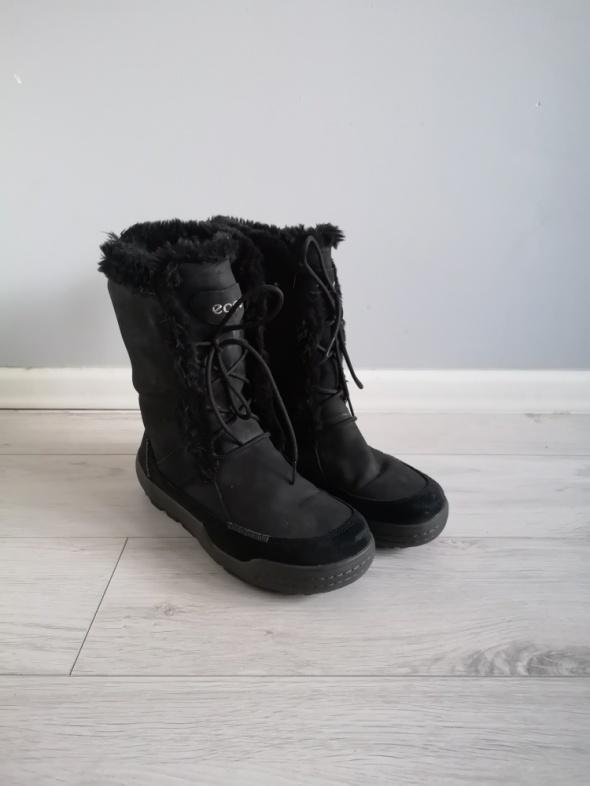 Śniegowce Ecco Siberia 40 skórzane buty zimowe kozaki futerko