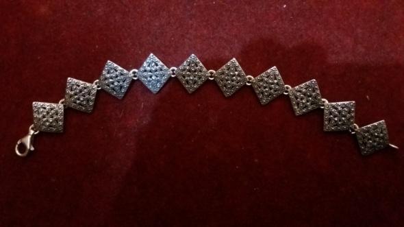 Piękna srebrna bransoletka 925