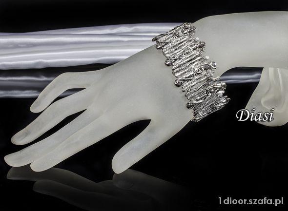 Bransoleta posrebrzana elegancka Butik