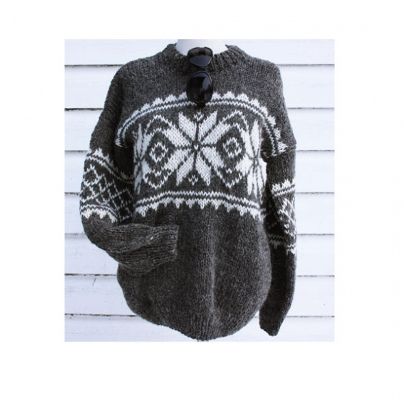 Sweter handmade wełna...