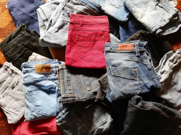 spodnie jeans damskie 34 36 38 mam 27 roznych par