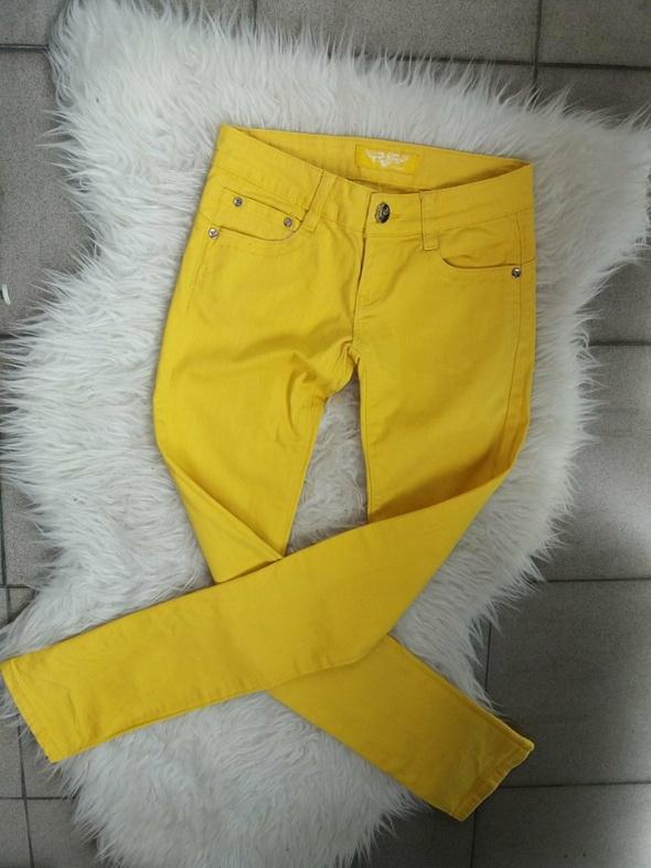 spodnie rurki zółte r S