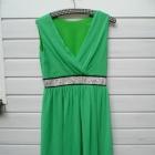zwiewna zielona sukienka rozm 40 niska cena
