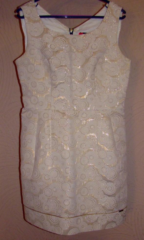 Elegancka sukienka tulipan złota