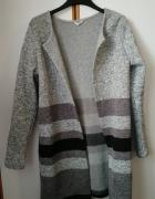 Śliczny dłuższy Sweter Kardigan praktycznie nowy rozmiar M...
