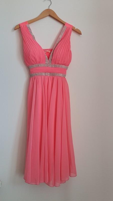 7e33b0e722 Sukienka na wesele różowa ze srebrnym zdobieniem s w Suknie i ...