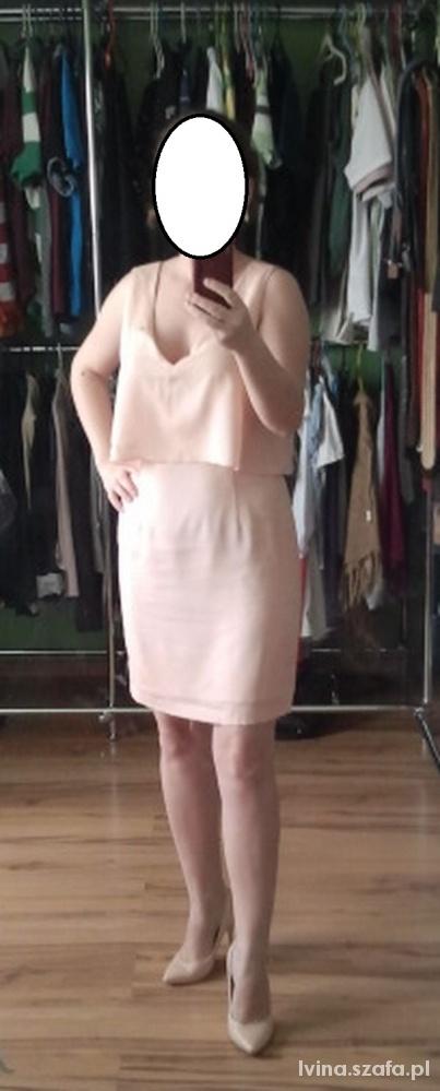 VILA morelowa sukienka 38