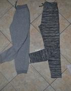 Spodnie dresowe szare melanż 134cm 140cm 8 9 lat...