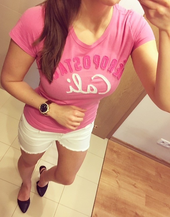 Aeropostale tshirt bluzka koszulka pastelowa S M...