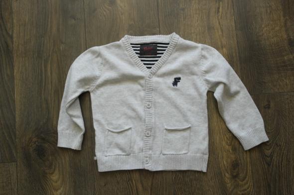 Sweterek chłopięcy jasny popiel 98