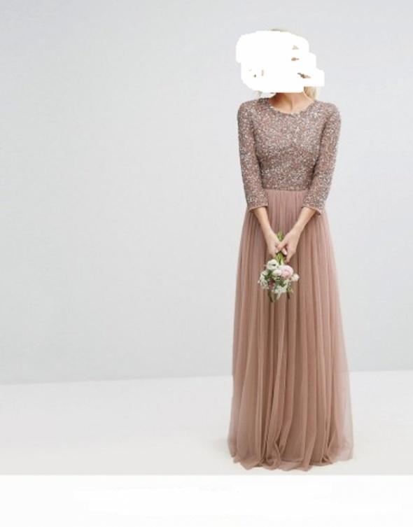Koktailowa długa suknia 36...