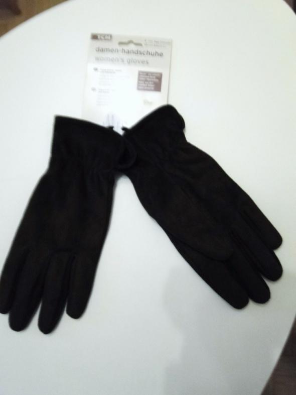 NOWE z Niemiec rękawiczki ciepłe damskie brązowe