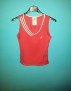 Czerwona koszulka bez rękawów Adidas 34 lub 36...