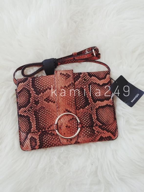 NOWA torebka na pasku na ramię crossbody bag w wężowy wzór print ala skóra węża