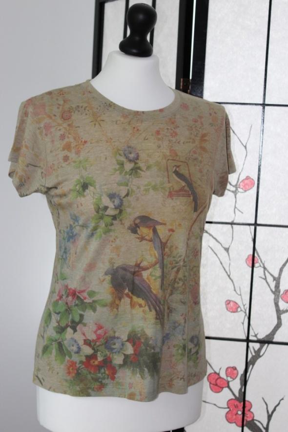 koszulka bluzka z krótkim rękawem w ptaki