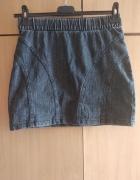 Szara spódnica jeansowa h&m 36...