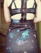 sukienka wycięcia galaxy