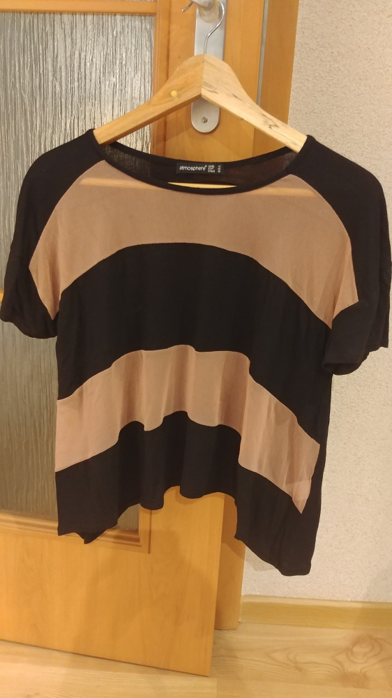Krótki T shirt w paski rozmiar M Atmosphere