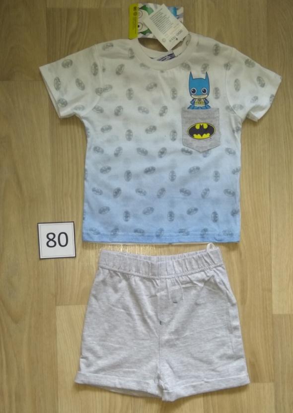 Nowy komplet bluzka z krotkim rękawem spodenki Batman Superbohater 80