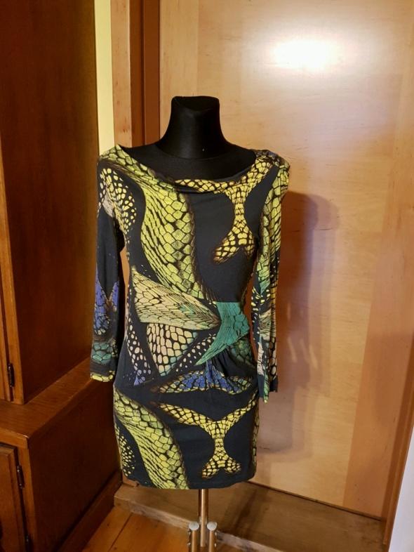 Oryginalna sukienka z next print wzory nowa 36 38
