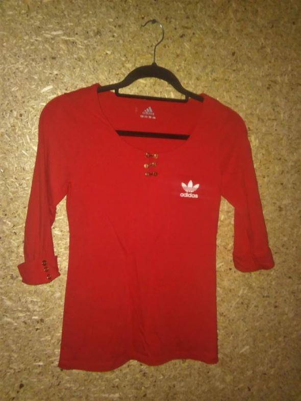 Adidas Czerwona elastyczna bluzka 36...