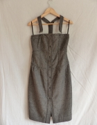 Super sukienka na szelkach oryginalny design rozmiar S...