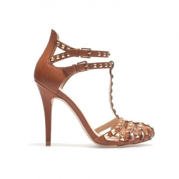 Zara Rzymianki Sandały z ćwiekami